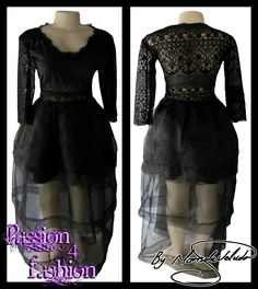 Black sheer matric dance dress, with a sheer lace back and 3/4 sheer sleeves. Sheer lace tummy with belt effect. 3 layered sheer skirt. #mariselaveludo #fashion #matricdance #matricdress #passion4fashion #lace #sheerblackdress #eveningwear #eveningdress #promdress