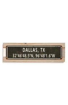 PONCHO & GOLDSTEIN Poncho & Goldstein Favorite City Sign available at #Nordstrom