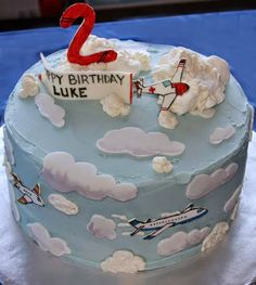 Best Airplane Birthday Cakes Ideas And Designs Airplane Birthday Cakes, Birthday Cake Toppers, Happy 2nd Birthday, Birthday Parties, Kid Parties, Birthday Cake Pictures, Cake Shop, Let Them Eat Cake, First Birthdays