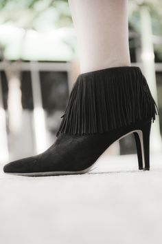 70's fringe is back and it's chic. Sam Edelman's new 'Kandice' booties rock a layer of suede fringe and a pointy toe—such a good deal right now at Nordstrom! @Nordstrom