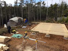 How to: Build a Rock Solid, Low Cost Off Grid Cabin Foundation Building A Small Cabin, Small Cabin Plans, Building A Shed, Small Cabins, Log Cabins, Building Ideas, Building Foundation, House Foundation, Shed Cabin