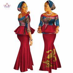 African Dashiki Print Dress Crop Tops&Skirt Set Hand Made Off Shoulder Half Sleeve African Women Clothing Long Skirt Set Latest African Fashion Dresses, African Dresses For Women, African Print Fashion, African Attire, African Women, African Clothes, Vestido Crop Top, Crop Top Dress, Dress Tops