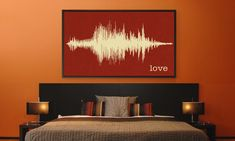 This is THE coolest thing. You submit a sound file (clip from a song, you saying a word - like this one is love - or any other audio) and they turn the sound wave into a piece of art. I know someone who would love this!