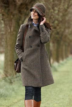 "Психолог онлайн. ""Психология личного пространства"" http://psychologieshomo.ru Modisch femininer 'Harris - Tweed' - Mantel"