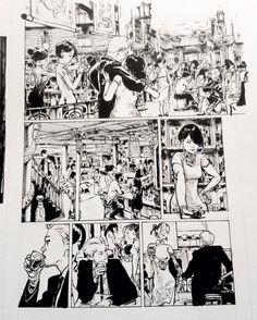 Kim Jung Gi Sketch Collection, News, and More! Comic Artist, Artist Art, Manga Art, Anime Manga, Art Syllabus, Comic Book Layout, Black And White Comics, Comic Manga, Western Comics