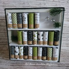 Stampinup Advent calendar - DIY Gifts For Home Ideen Homemade Advent Calendars, Diy Advent Calendar, All Things Christmas, Christmas Holidays, Christmas Crafts, Christmas Calendar, Christmas Countdown, Advent Calenders, Stampin Up