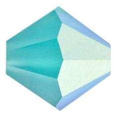 3mm Matte Blue Zircon AB Preciosa Czech Crystal Bicone Bead   Fusion Beads