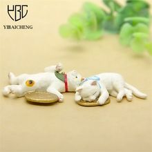4-5CM Lovely Cartoon Lucky Cat Anime Action Figures Toys For Children Kids DIY Decoration Gifts Cute Resin Models Toys Figurine(China (Mainland))