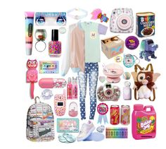 """""""Tumblr?⭐"""" by macaulere ❤ liked on Polyvore featuring JM Posner, Polaroid, Bandai, Bonne Bell, Samsung, Kit-Cat, Forever 21 and bkr"""