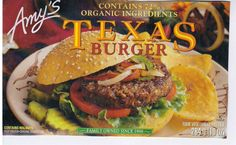 """SELF Magazine just announced the Best Veggie Burger in the Healthy Food Awards and Amy's Texas Burger is the winner! They loved the """"sweet BBQ taste"""" - with of protein and just 140 calories Vegan Veggie Burger Brands, Frozen Veggie Burgers, Vegan Veggie Burger, Vegan Burgers, Healthy Eating Tips, Clean Eating Snacks, Healthy Nutrition, Going Vegetarian, Vegetarian Recipes"""