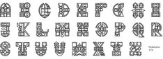 Teaching Typefaces (Mogwalo Ndebele TTF) on Behance Africa Art, Pattern Art, Typography Design, Behance, Graphic Design, Teaching, Etsy, African Dress, Stained Glass