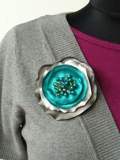 yo elijo coser: DIY: cómo hacer un broche con círculos de satén.