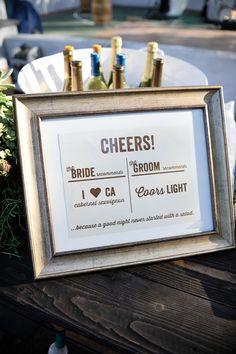 Bride and groom #signaturedrink menu