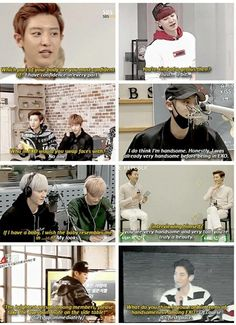 Chanyeol please<<<<< Chanyeol, chill on the self confidence
