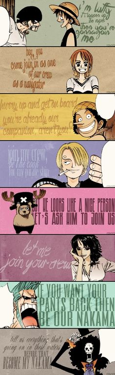Be my nakama – Monkey D Luffy One Piece Quotes, One Piece Meme, One Piece Comic, One Piece Images, The Pirate King, 0ne Piece, Haikyuu, Geek Stuff, Zoro