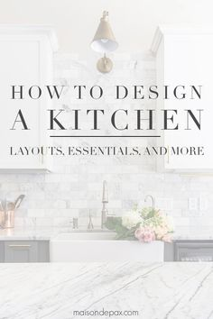 How to Design a Kitchen Planning a kitchen remodel? Learn how to design a kitchen with these kitchen renovation tips and ideas! Find out where to start and what you need to plan your kitchen. New Kitchen Cabinets, Kitchen Flooring, Kitchen Countertops, Kitchen And Bath, Kitchen Decor, Kitchen Ideas, Kitchen Layouts, Soapstone Kitchen, Kitchen Planning
