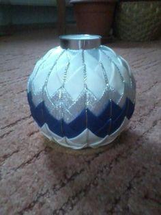 Modro stříbrný věnec Christmas, Crafts, Decor, Scrappy Quilts, Pink, Xmas, Manualidades, Decoration, Navidad