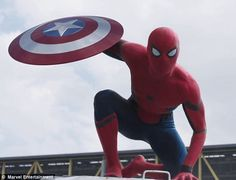 Tom Holland as Spiderman in the new Captain America Civil War trailer. I will never be emotionally ready for this movie!!!!