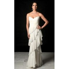 Ivory Informal Mother Bride Dress. #Strapless, #Sweetheart, #Corset, #Empire, #Ruched, #Lace, #Wedding, #Dress, #Mother, #Bridal. Only $222.99