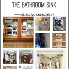 Bathroom storage. Storage ideas for under the bathroom sink