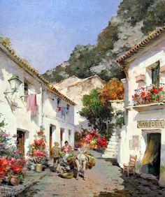 Imágenes Arte Pinturas: Pinturas de Paisajes Coloniales en Acuarela y Óleo, Manuel Fernández