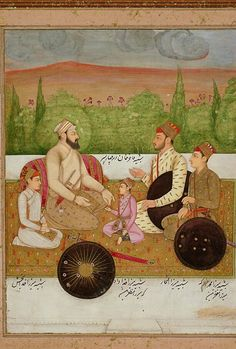 Fakhir Khan, shown seated here with his four sons, was a member of Shah Jahan's court (reigned 1627-58) at Delhi