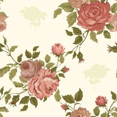 Retro Elegant Rose Flower Background Vector Material