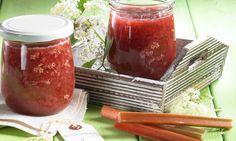 Rhabarberkonfitüre mit Holunderblüten Rezept | Dr. Oetker