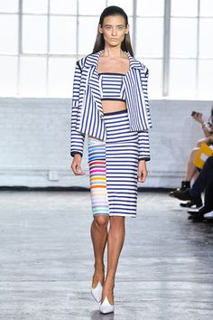 Stripes play. Tanya Taylor Spring 2014 Ready-to-Wear Collection Slideshow on Style.com