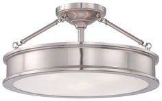 View the Minka Lavery 4177-84 3 Light Semi-Flush Ceiling Fixture from the Harbour Point Collection at LightingDirect.com.