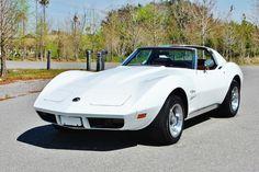 Chevrolet: Corvette T-Tops #'s Matching L82 350 V8 4-BBL White on Red Rare 1974 Chevrolet Corvette T-Tops Power Steering Power Brakes Dual Exhaust