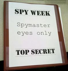 Spy Week Day from Future Librarian Superhero Spy Games For Kids, Spy Kids, Activities For Teens, Summer Activities, Secret Agent Activities For Kids, Kids Camp, Group Activities, Indoor Activities, Therapy Activities