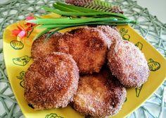 Keto rántott cukkini (Ketogén)   Szilvia Mária Kilecz receptje - Cookpad receptek French Toast, Bacon, Muffin, Veggies, Vegetarian, Vegan, Chicken, Breakfast, Food
