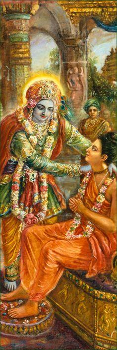 Lord Krishna Srila Narada Muni