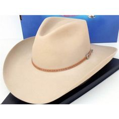 736ab537855 Resistol Cowboy Hat 4X Beaver Fur Ranch Tan Sheridan