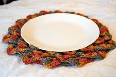 Pattern for crocheted placemat.