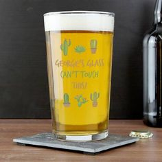 With its distinctive and quirky design, our Cactus Pint Glass is a perfect way for any recipient to enjoy their favourite drink. Pint Glass, Fathers Day Gifts, Brand Names, Unique Gifts, Cactus, Personalized Items, Drinks, Design, Products
