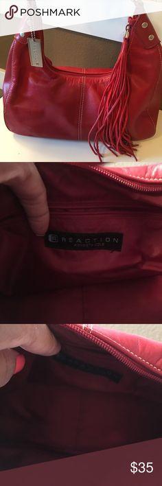 4 Designer Handbags Red Kenneth Cole Reaction Handbag Gray Michael Kors  Handbag Purple Nicole Miller Handbag and Black Michael Kors handbag. All handbags are in excellent condition. Kenneth Cole Reaction Bags Hobos