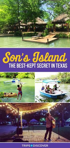 Son's Island ist ein tropisches Paradies in Texas Son's Island is a Tropical Paradise Hidden in Texas Son's Island ist ein tropisches Paradies in Texas Texas Vacation Spots, Texas Vacations, Texas Roadtrip, Texas Travel, Vacation Places, Vacation Destinations, Travel Usa, Places To Travel, Italy Vacation