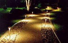 освещение приусадебного участка, установка светильников на даче, в саду, основания для фонарей, стоимость установки и монтажа, купить, заказать, как сделать своими руками, фото