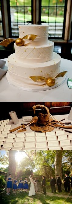 Golden Snitch Cake  -10 Awesome Things Inspired by Harry Potter - A Magical Engagement