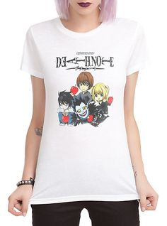 Death Note Chibi Group Girls T-Shirt Hot Topic   This is soooo cute!!! I want it!!!