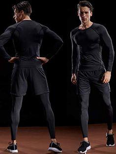 9d30d52f6c4 Amazon.com: Neleus Men's 3 Pack Workout Compression Long Sleeve Shirt,5035,