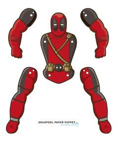 Deadpool printable marionet