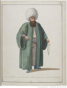 İstanbul Efendisi-[Recueil. Dessins originaux de costumes turcs : un recueil de dessins aquarelles] Empire Ottoman, Istanbul, National Art, Bnf, Naive Art, Historical Clothing, Islamic Art, Costumes, 19th Century