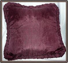 "Croscill 20"" Burgundy Accent Pillow #Croscill"