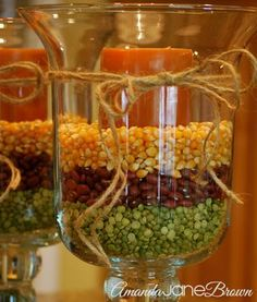Fall Hurricanes from Amanda Jane Brown | Featured Fall Decorating Idea from Gooseberry Patch