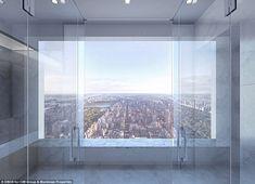 3メートルx3メートルの大きな窓