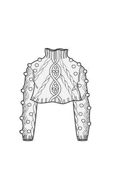 A/W Design Direction: Womens Knitwear key items cropped cable Fashion Sketchbook, Fashion Illustration Sketches, Illustration Mode, Fashion Sketches, Design Illustrations, Flat Drawings, Flat Sketches, Dress Sketches, Technical Drawings