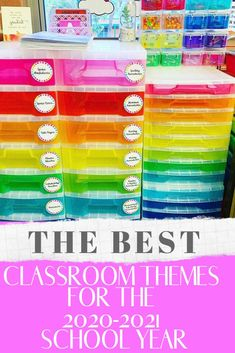 The best classroom themes for your elementary class this year including colorful rainbow, cactus and camping theme. Tons of inspiration to make the theme come to life!  These are perfect for preschool, kindergarten as well as the older students. #classroomthemes Preschool Classroom Decor, Classroom Images, Classroom Jobs, Classroom Design, Preschool Kindergarten, Classroom Organization, Rainbow Bulletin Boards, Cute Bulletin Boards